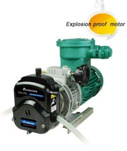 Peristaltická pumpa odolná explozi EXP600
